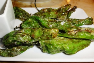 Blistered shisito peppers