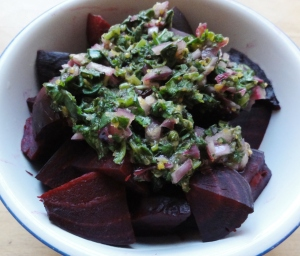 Beets with dressing