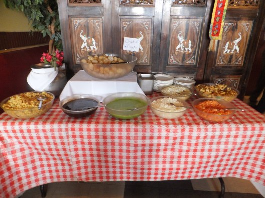 Pani puri and papri chat table