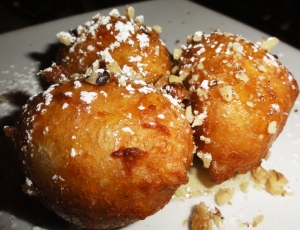 Donuts with honey syrup