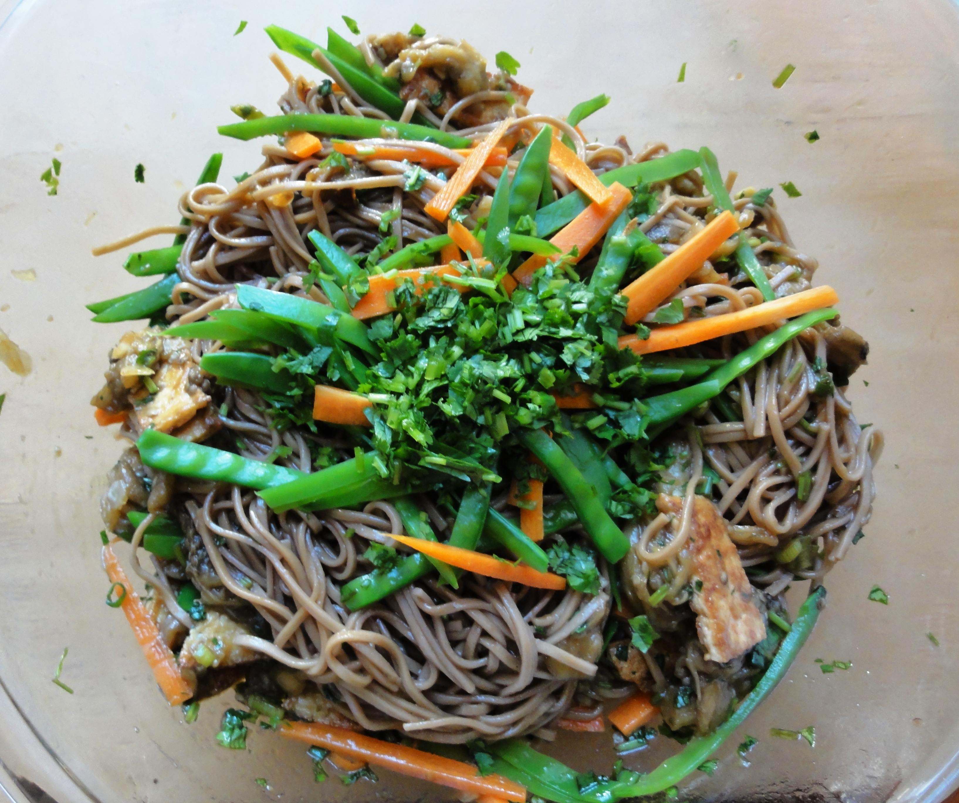 Spicy Pesto Soba With Chicken And Snow Peas Recipes — Dishmaps
