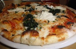 Spinach ricotta pizaa