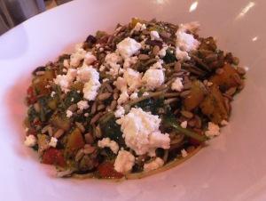 Pesto veggie pasta