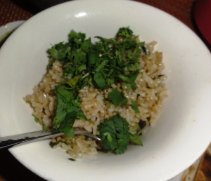 Mexican brown rice with cilantro