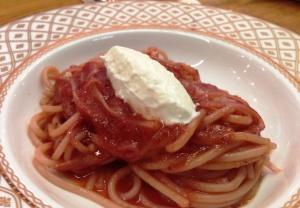 Strawberry pasta
