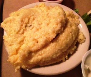 Jalapeño cheddar grits taste a lot more exciting than they look