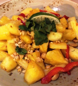 Pineapple stir-fry